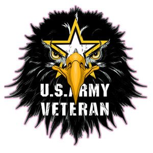 Army Veteran Eagle Head Decal
