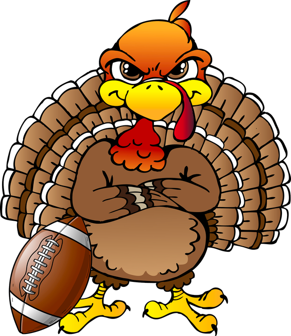 Thanksgiving and Football Version 2 Wall or Window Decor Decal