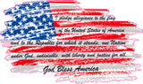 American Flag National Anthem Decal