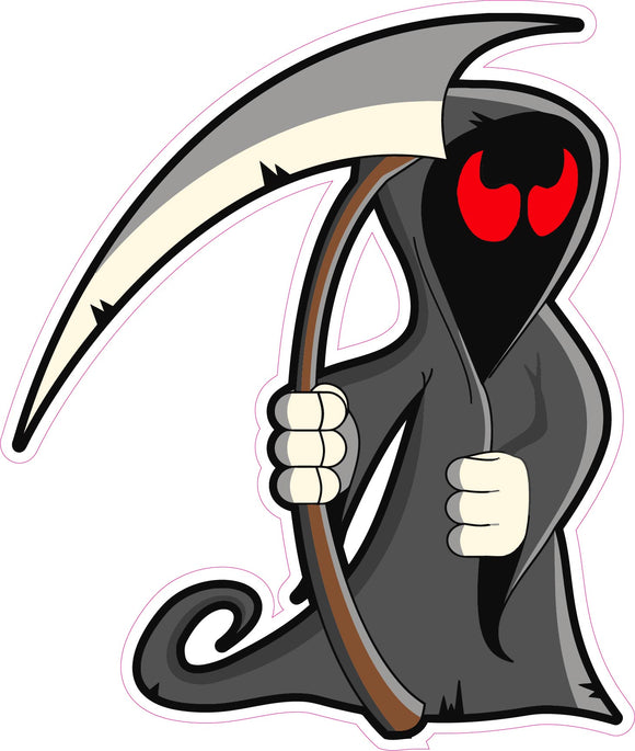 Halloween Grim Reaper Wall or Window Decor Decal - 24