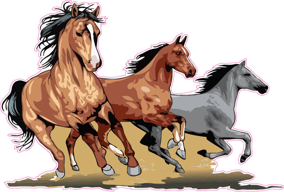 Running Horses Wall Decor Decal - Decal - 24