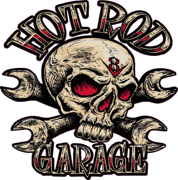 Hot rod garage decal