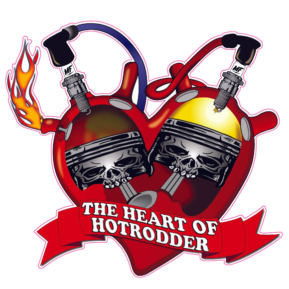 The Heart of Hotrodder Decal