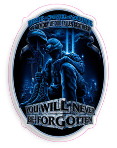 POW Never Forgotten Decal