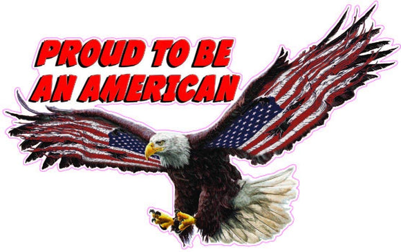 Proud To Be An American Red Lettering Decal - 6