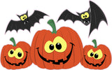 Halloween Pumpkins with Bats
