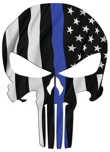 American Punisher Waving Thin Blue Line Decal