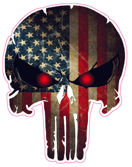 American Flag Punisher Decal- 24