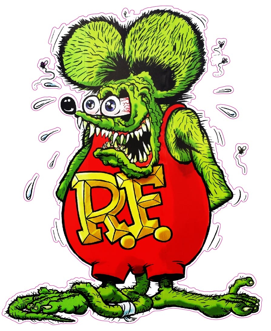 Rat Fink Version 2 Decal Nostalgia Decals Ed Roth