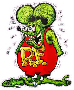 "Rat Fink Version 2 Decal - 3"" x 2"" 