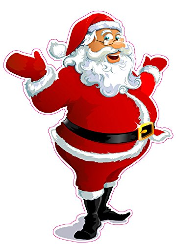 Santa Claus Version 3 Window and Wall Decor Decal - 12