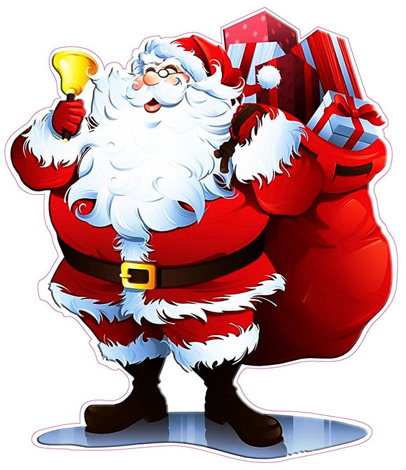 Santa Claus Window and Wall Decor Decal - 12