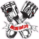 Skulls Pistons Racing for Life Version 1 Decal
