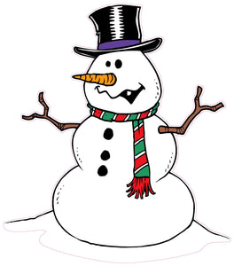 "Christmas and Holiday Wall Decor Snowman Decal - 36"" x 31"" 