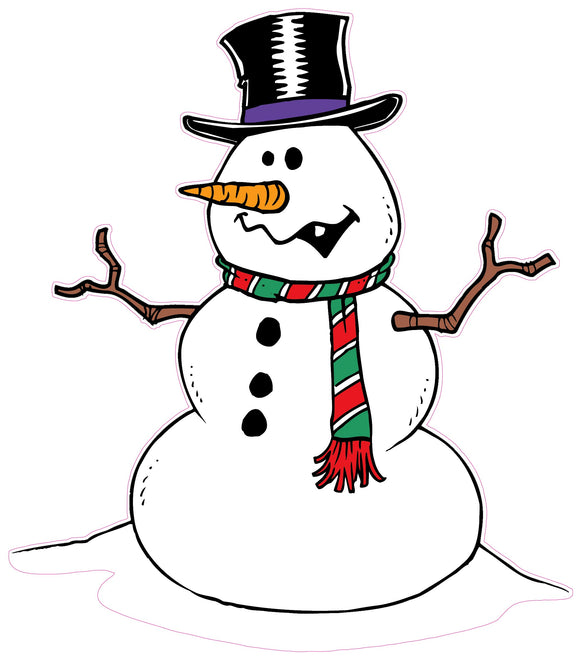 Christmas and Holiday Wall Decor Snowman Decal - 36
