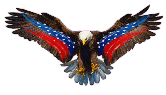 Soaring Bald Eagle Patriot