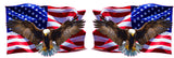 Soaring Bald Eagle American Flag right & left Decal