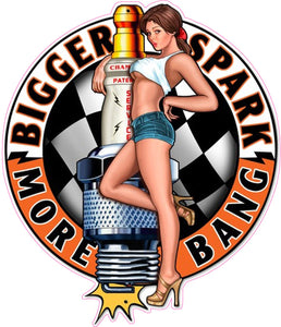 Spark Plug Big Bang Pin Up Girl