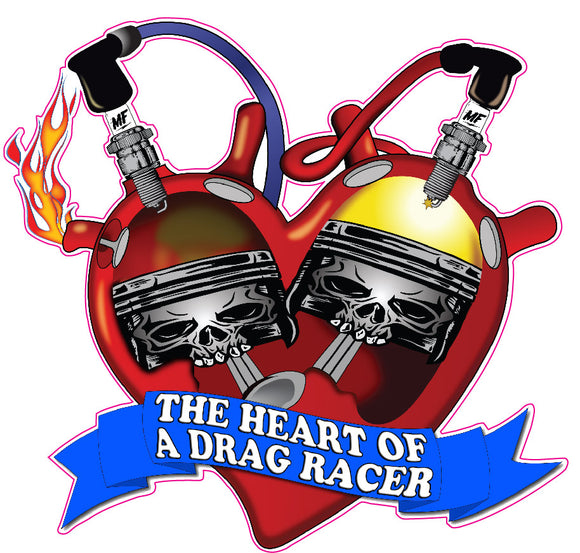 The Heart of Drag Racer Decal
