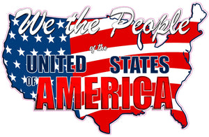 United States of America We the People Decal