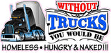 Without Truckers Decal