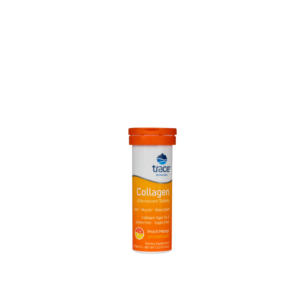 Collagen Effervescent Tablets- Peach Mango - Earth's Pure