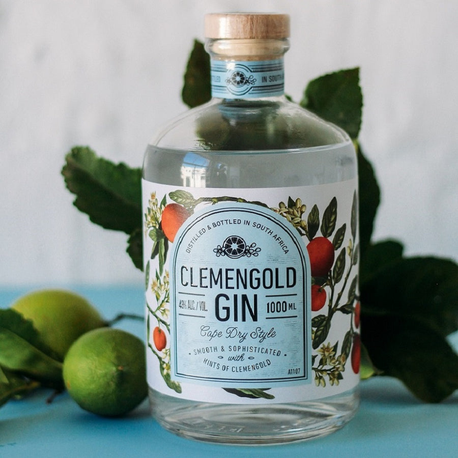 ClemenGold Gin bottle 1000mL