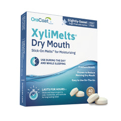 XyliMelts Oral Adhering Discs, Slightly Sweet, 40 Count (48 Count Case)