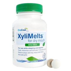 XyliMelts Oral Adhering Discs, Mild Mint, 120 Count (24 Count Case)