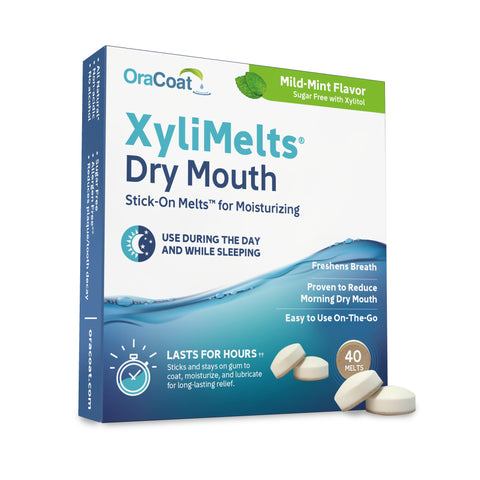 XyliMelts Oral Adhering Discs, Mild Mint, 40 Count (48 Count Case)