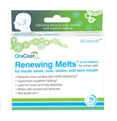 Renewing Melts (H-B12 Melts) for Mouth Sores - 1 box of 16 discs