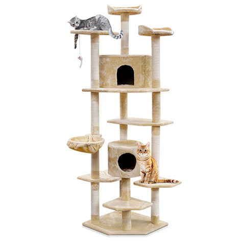 i.Pet 203cm Cat Scratching Post - Beige