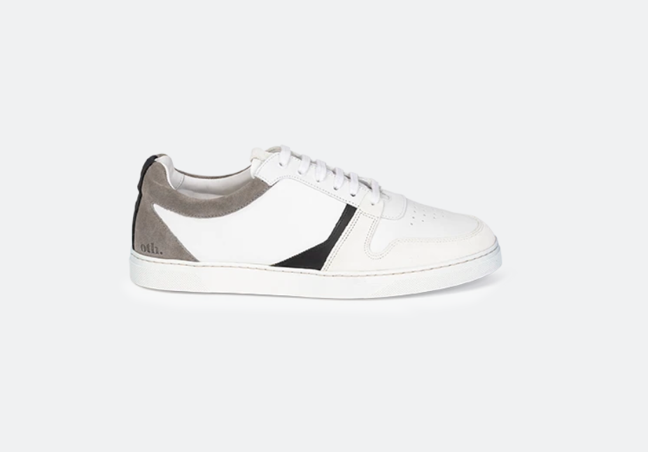 Glencoe White Leather / Light Grey Suede