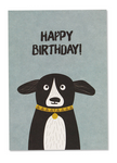 Postkarte Hund Happy Birthday