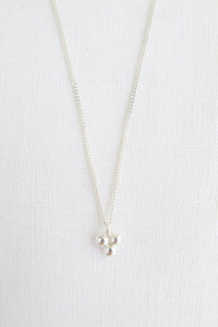 Delicate Dots Necklace silber