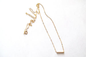 Delicate Tube Necklace gold