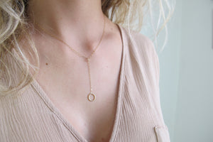 Y-Circle Necklace