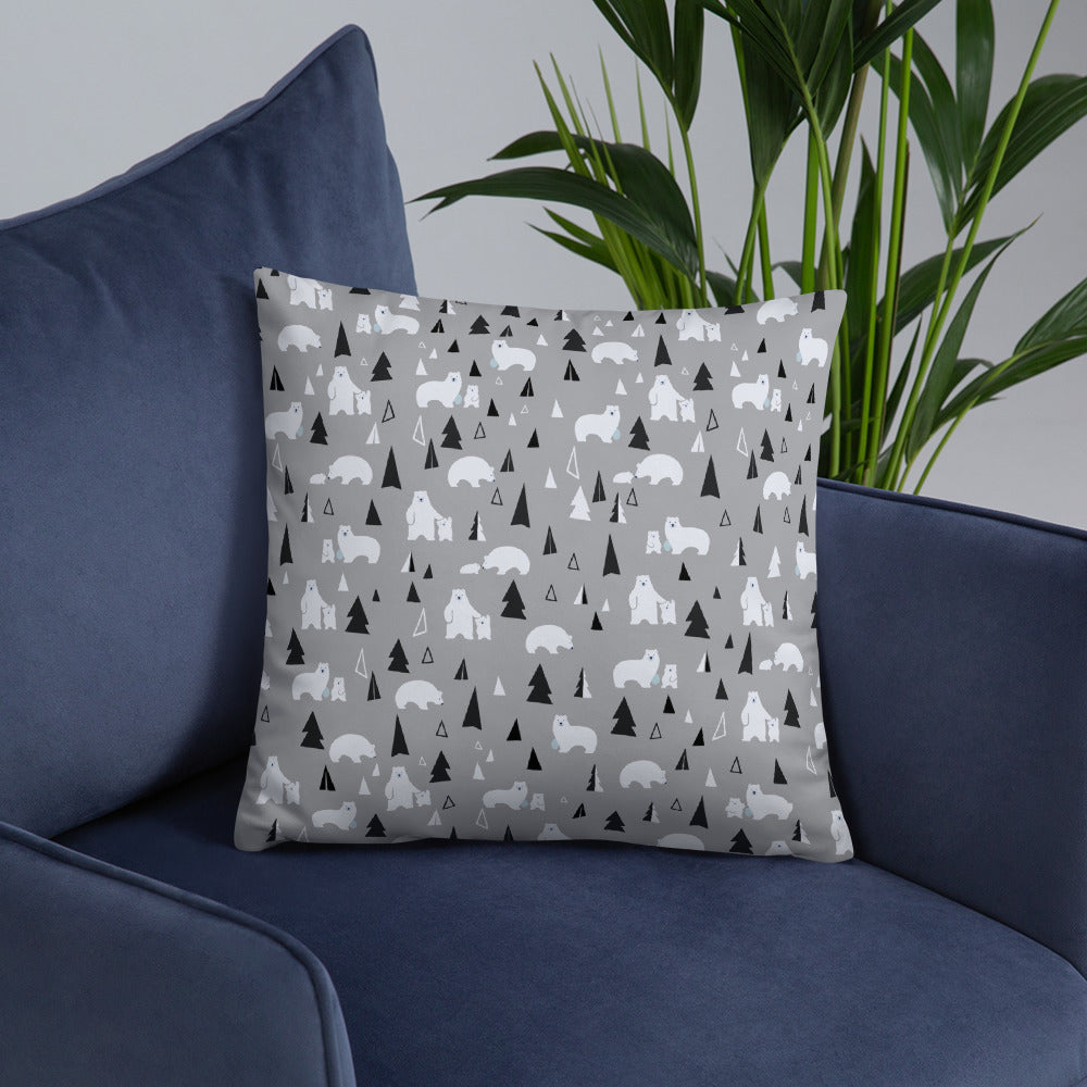 Graphic Designer Pillow / Bears and Mountains