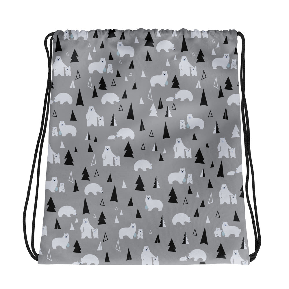 Bears and Moutains Drawstring bag