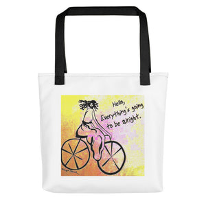 "The orginal Jesus Christ on a Bicycle "" Tote bag / Artist - Margot House"