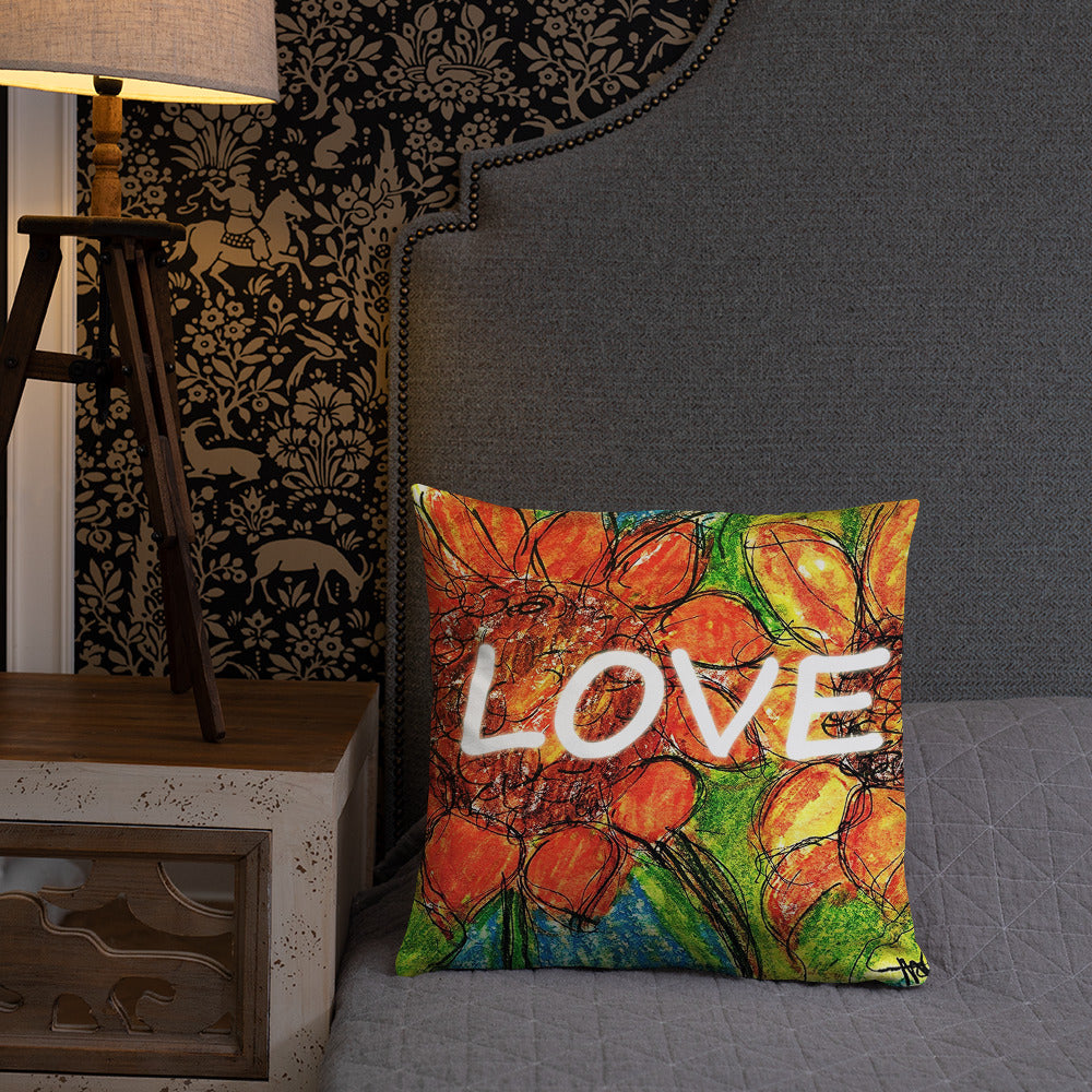 Sunflower Love  Pillow  /Artist - Margot House