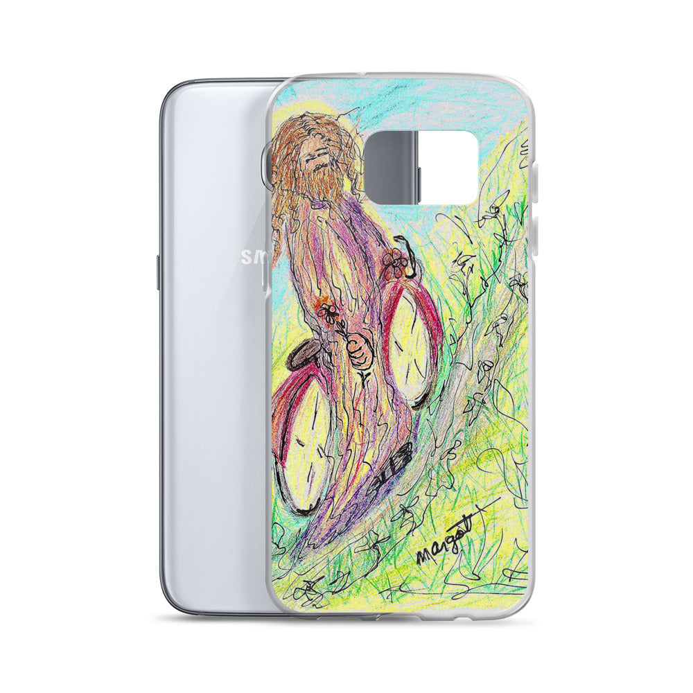 "Artist Edition ""Jesus on a Bicycle"" Samsung Case / Artist - Margot House"