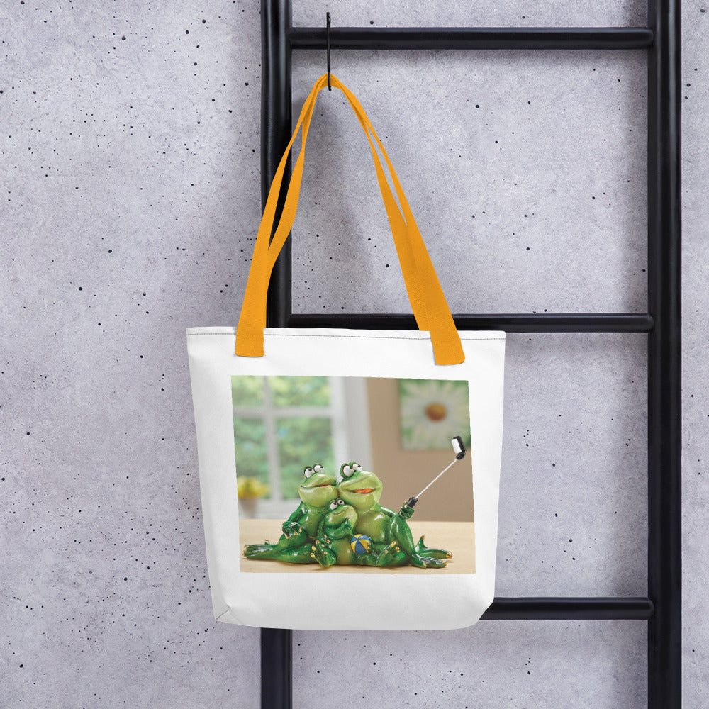 Froggy Family Selfie Tote bag / Created by Bryan Ameigh