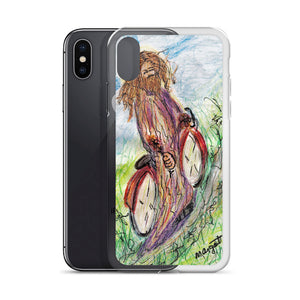 """Jesus Christ on a Bicycle"" iPhone Case / Artist - Margot House"