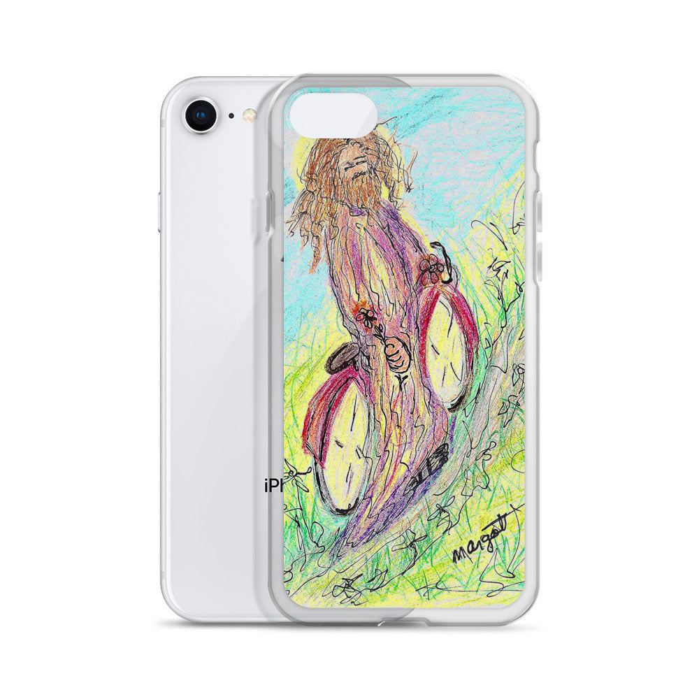 "Artist Edition ""Jesus on a Bicycle"" iPhone Case / Artsist- Margot House"