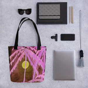 Pink Palm Tree Tote Bag / Artist - Margot House