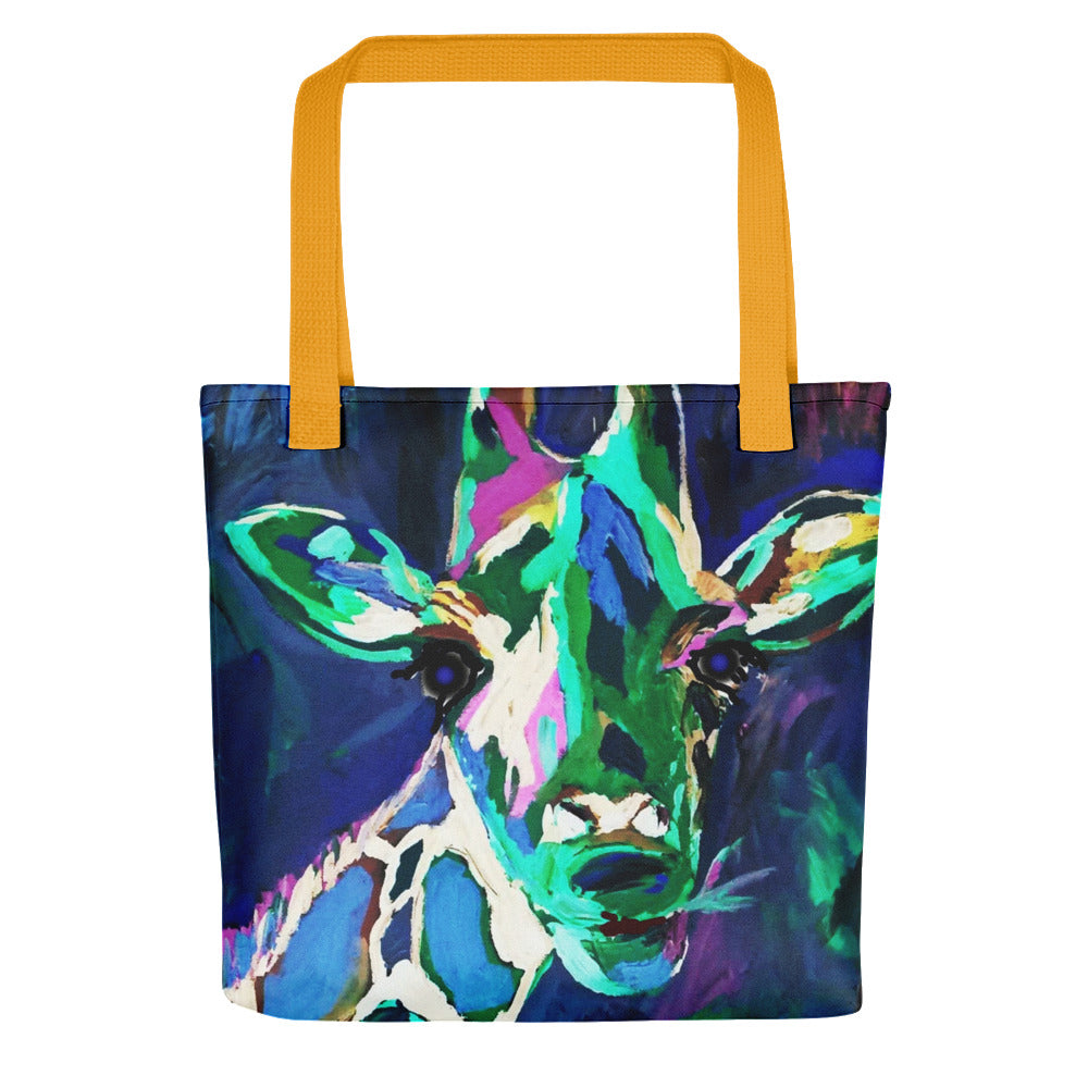 "'Giraffe at Night"" Tote bag / Artist -Bryan Ameigh"
