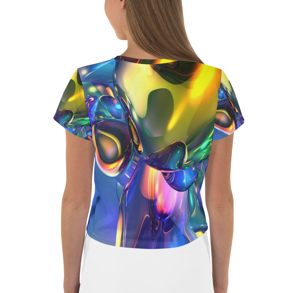 Artist Edition All-Over Print Crop Tee / Artist - Bryan Ameigh