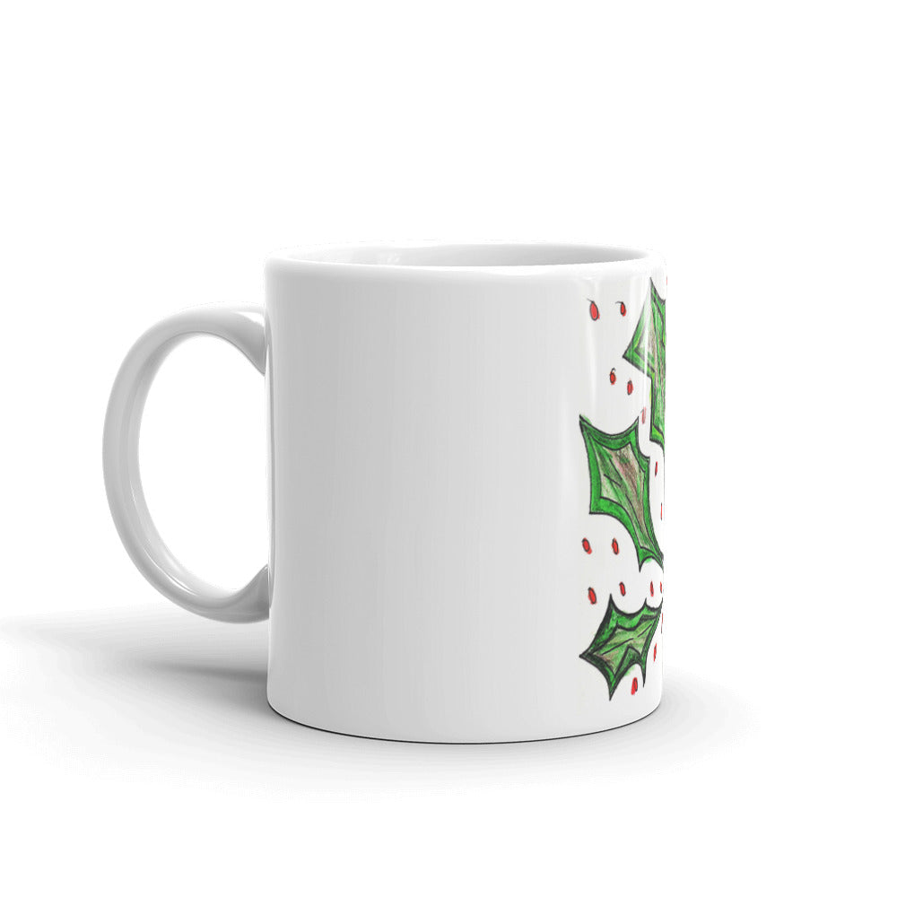 Christmas Holly Mug / Artist - Margot House
