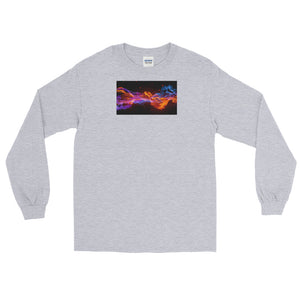 Shooting Flame Graphic Long Sleeve T-Shirt